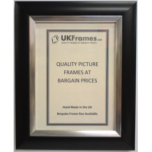 37mm Dome Black Silver Frames