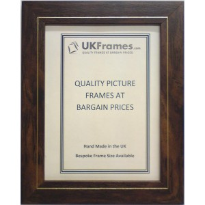 32mm Flat Walnut Gold Frames